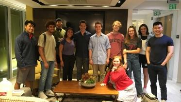 Film and Media Studies Alumni pose together.