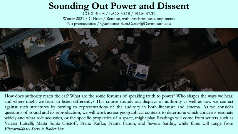 Sounding out Power and Dissent